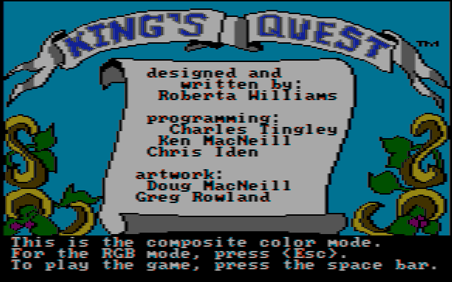 Kings Quest 1 CGA Composite
