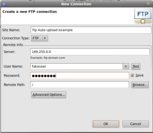 Create an FTP connection