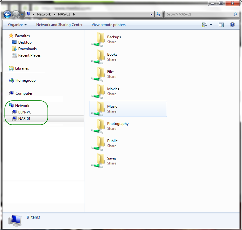 how to create a network connection shortcut in windows 7