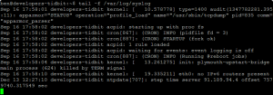 tail f syslog