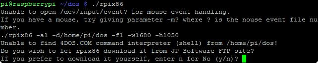 rpix86 unable to find 4dos.com