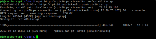wget rpix86.tar.gz