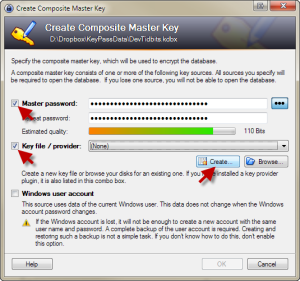 Create Composite Master Key