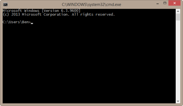 Windows 8.1 Command Prompt