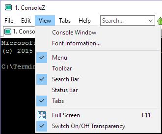 ConsoleZ view adjustments