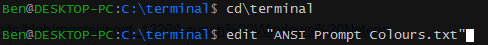 Edit command