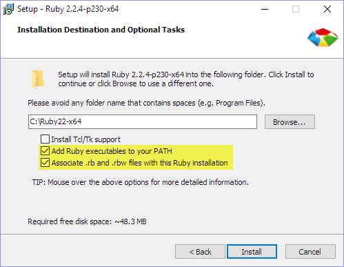 Install and setup Ruby