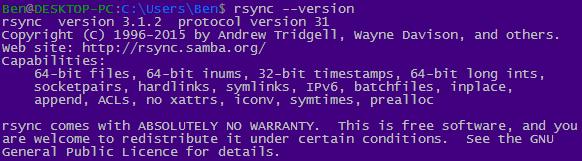 rsync --version