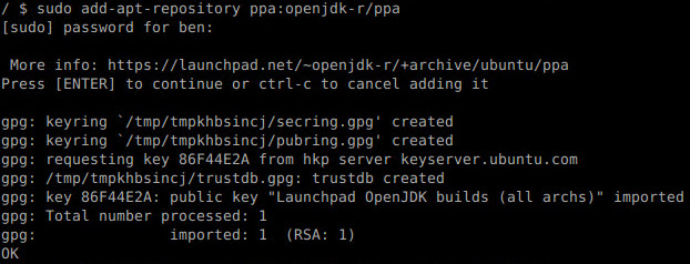 add ppa openjdk
