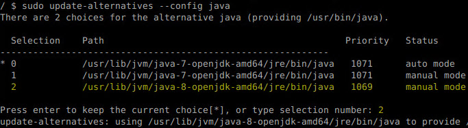 select a java alternative