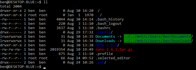home directory with user directory symlinks