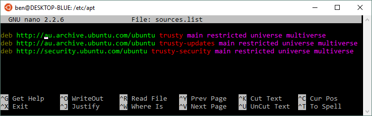 sources.list