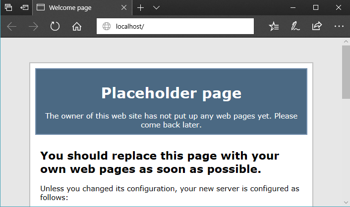 The lighttpd Placeholder page